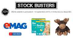 eMAG Stock Busters oferte articole copii septembrie 2015