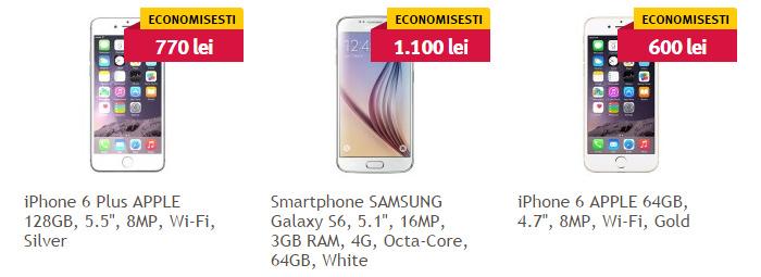 Promotii telefoane cu memorie peste 64 GB Altex