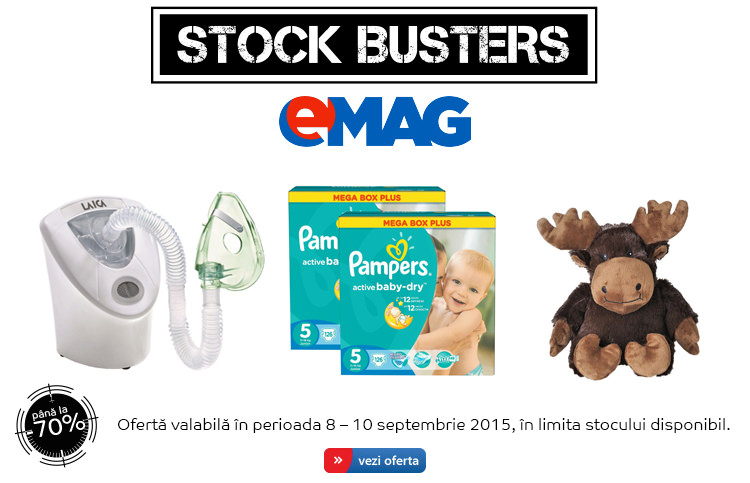 Stock Busters copii septembrie 2015 eMAG