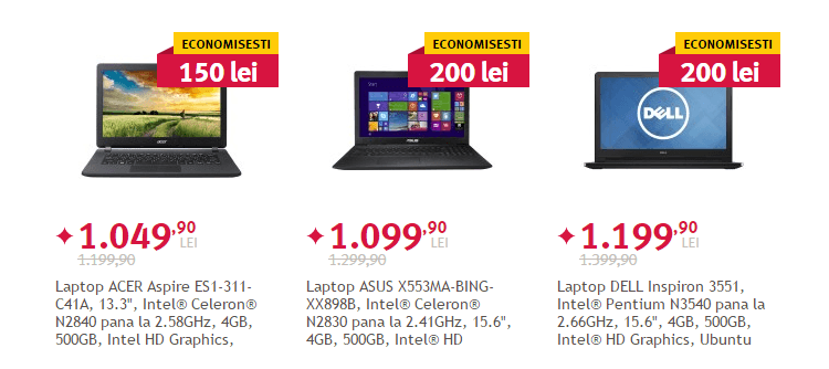 Altex Saptamana devoratorilor laptop