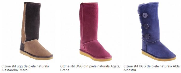 Cizme stil UGG piele naturala eMAG
