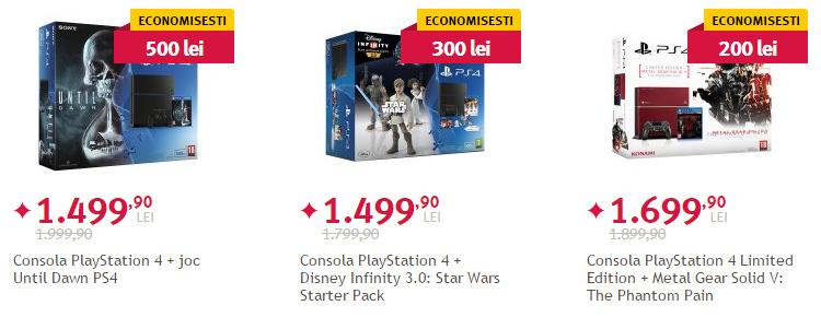 Console Sony PlayStation 4 pret redus Altex