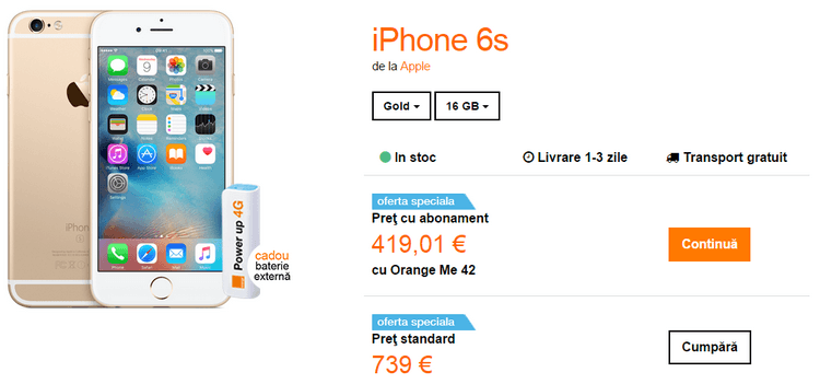Orange Apple iPhone 6s