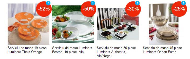 Servicii Luminarc reduceri Festivalul Toamnei eMAG