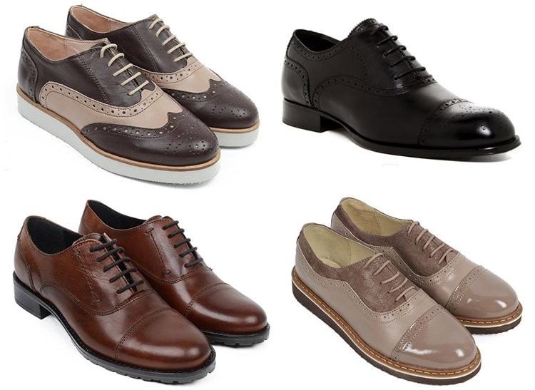 Stiluri pantofi Oxford