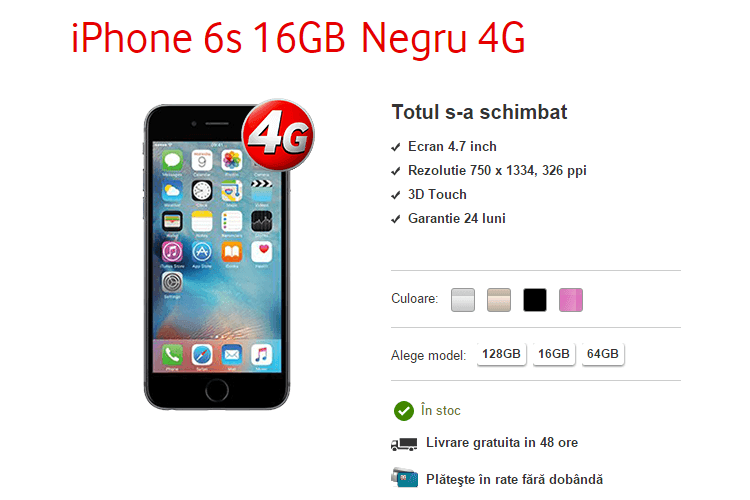 Vodafone Apple iPhone 6s