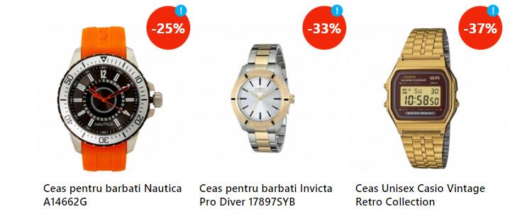 Oferte ceasuri barbatesti eMAGIA Sarbatorilor eMAG