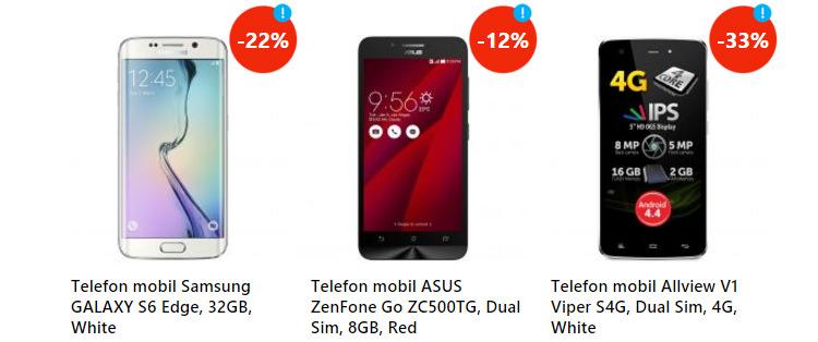 Oferte smartphones eMAGIA Sarbatorilor eMAG