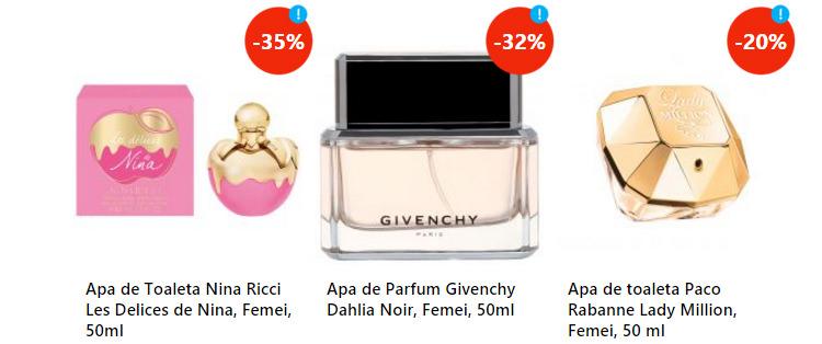 Oferta parfumuri dama eMAGIA Sarbatorilor eMAG