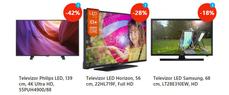 Televizoare oferta sarbatori eMAG