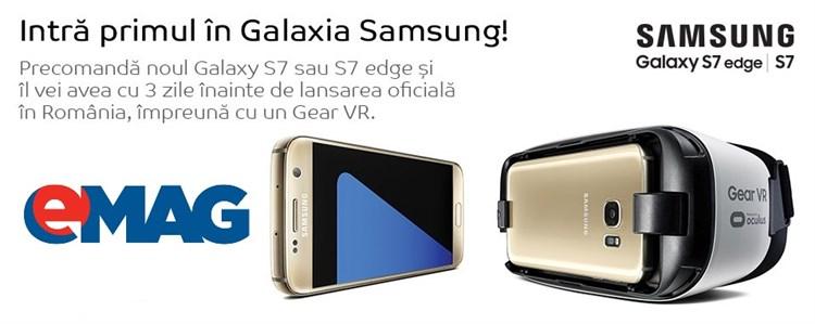 Oferte pentru Samsung Galaxy S7 si S7 Edge la eMAG
