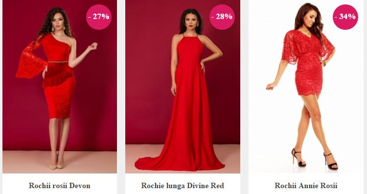 Rochii rosii DeClub
