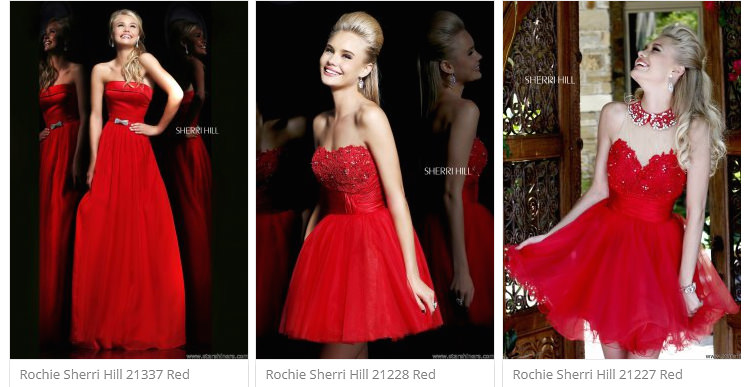 Rochii rosii StarShinerS
