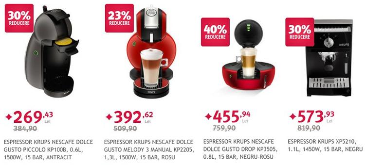 Espressoare Krups Nescafe reducere Altex