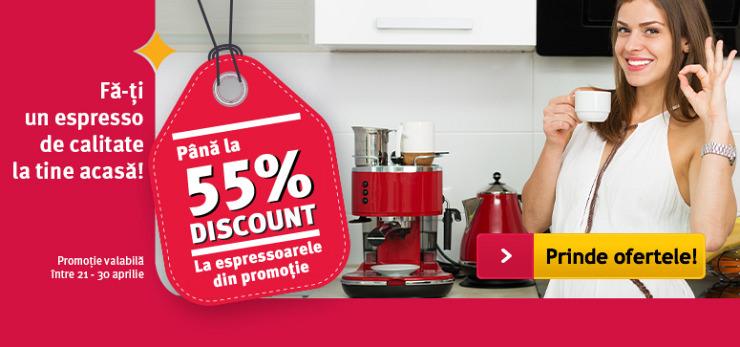 Reduceri espressoare Altex