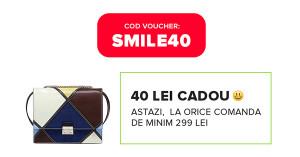 SMILE40 – voucher cadou Elefant la comenzile de peste 299 de lei