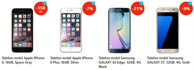 Smartphones reducere eMAG