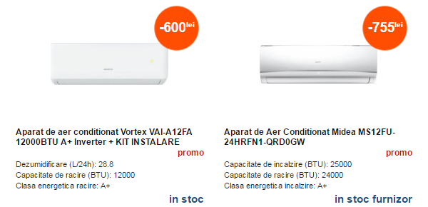 Aparate de aer conditionat de la CEL