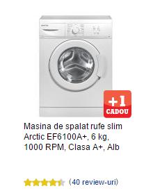 masina de spalat rufe arctic slim ef6100a plus