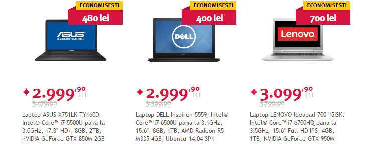 Laptopuri Black Friday vara 2016 Altex