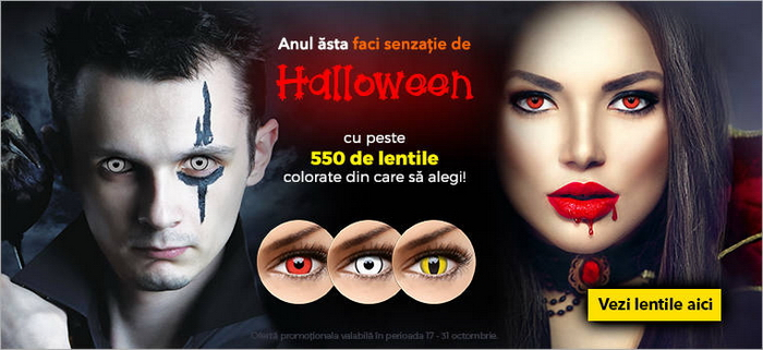 lensa lentile colorate de halloween 2016