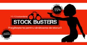 Stock Busters din 11-14 octombrie 2016 – reduceri de pana la 75% la eMAG inainte de Black Friday