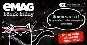 Detaliile campaniei de Black Friday 2016 la eMAG