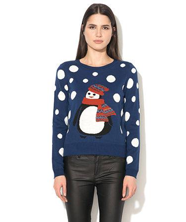bluza-de-craciun-pinguin-fashiondays