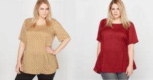 Oferta de bluze in marimi mari de dama din magazinele online