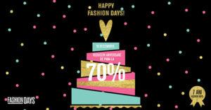 Reduceri aniversare FashionDays pentru 7 ani de moda