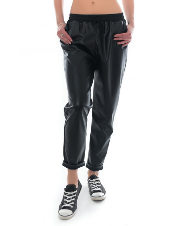 Pantaloni imitatie piele BLOOM eMAG