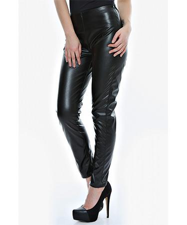 Pantaloni imitatie piele clasici FashionUP