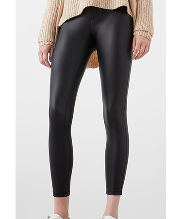 Pantaloni imitatie piele Mango FashionDays