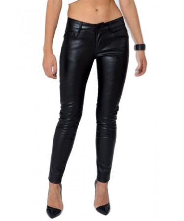 Pantaloni imitatie piele RubyFashion eMAG