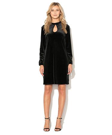 Rochie catifea neagra Benetton FashionDays