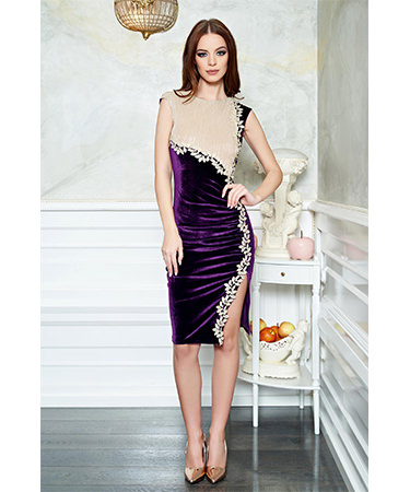 Rochie catifea violet StarShinerS