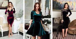 Modele de rochii de catifea perfecte pentru Revelion