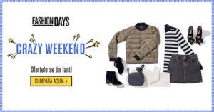 "Crazy Weekend la FashionDays da startul la reduceri ""nebune"""