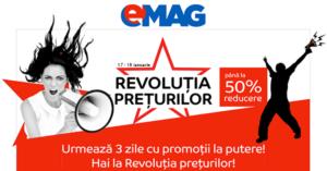 Revolutia Preturilor la eMAG din 17-19 ianuarie revine cu discounturi de pana la 50%