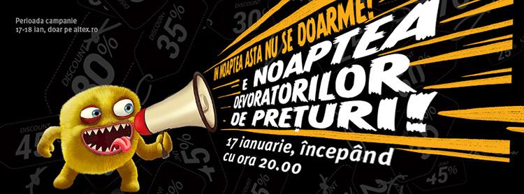 Promotii Noaptea devoratorilor de preturi 17 ianuarie 2017