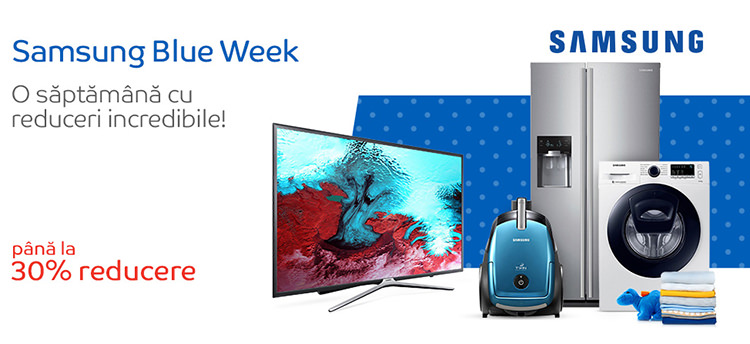 Campanie reduceri Samsung Blue Week eMAG