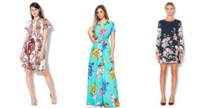 Rochii cu imprimeu floral in tendinte pentru 2017 in magazinele online