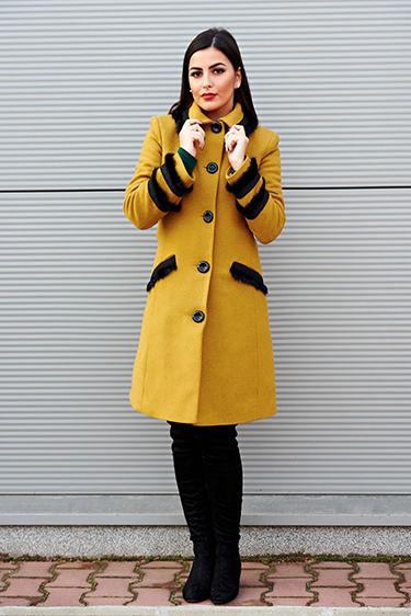 StarShinerS palton dama galben