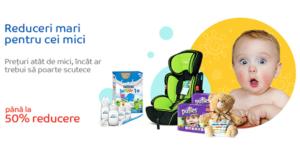 Reduceri articole bebelusi prin Baby Days la eMAG