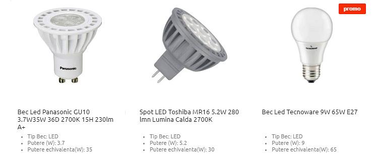 Becuri LED la Cel.ro