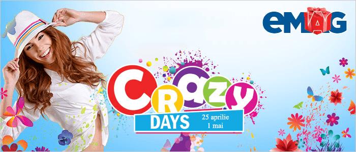 Crazy Days din 25 aprilie - 1 mai la eMAG