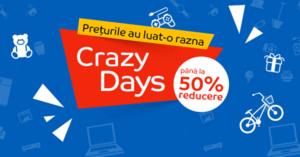 "Crazy Days din 1 – 7 iunie 2017 la eMAG – revin reducerile ""nebune""!"