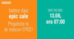 Campanie Epic Sale la FashionDays din iunie 2017