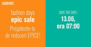 """Epic Sale la FashionDays din iunie 2017 – 3 zile de reduceri """"epice"""""""