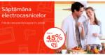 Saptamana Electrocasnicelor din 13 – 19 iunie la eMAG aduce discounturi de pana la 45% la toata gama